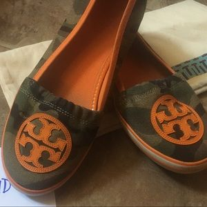 Tory Burch camo canvas sneakers